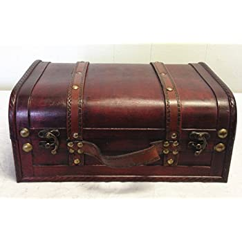Charmant Faux Leather Decorative Wooden Storage Trunk (HF 008C 2)