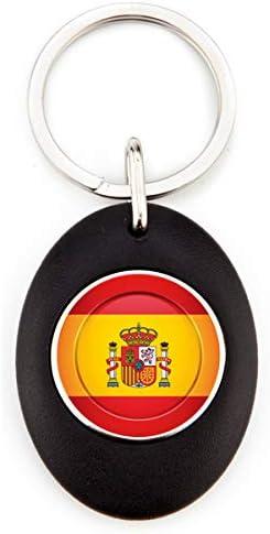 G Llavero Bandera de España | Llavero Acrílico Redondo con Moneda para Carro | Llavero Resistente | Color Negro | Diseño Elegante (1 Unidad): Amazon.es: Hogar