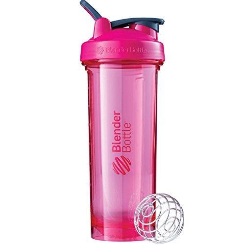 BlenderBottle Pro Series Shaker Bottle, 32-Ounce, Pink (Blender Colorful)