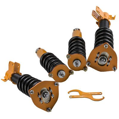 Rear Coilovers Kits for Subaru Outback 00 01 02 03 04 Adj Height Struts Shocks Coil Spring Adjustable Height Front