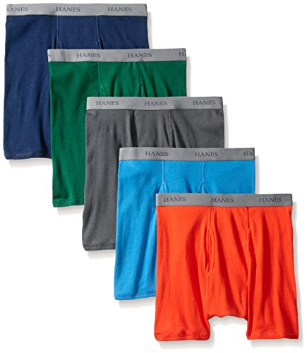 Hanes Men's 5 Pack Ultimate Dyed Boxer Brief - Colors May Vary