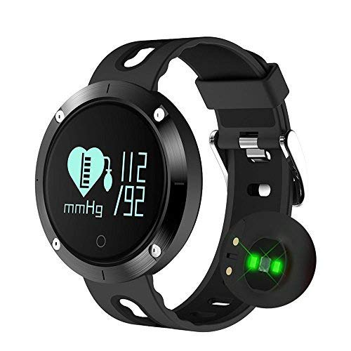 Fitness Tracker Smart Watch-Blood Pressure Monitor,Heart Rate Monitor,Sleeping Monitor,Tracker Pedometer IP67 Waterproof OLED Large Touch Screen iOS Android(Black) by KEDA