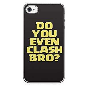 Clash of Clans iPhone 4/4s Transparent Edge Case - Do You Even Clash Bro