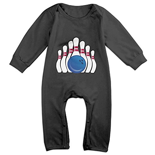 Efbj Baby Rompers Bowling Pins Go Coverall Romper Unisex Bodysuit Clothes Jumpsuit Pajamas