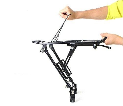 Nexify Fahrrad Gepäckträger (hinten) - hält Taschen, Rucksäcke, Aktentaschen, Geldbörsen & mehr - mit dem Fahrrad Kettenstrebe Schutz