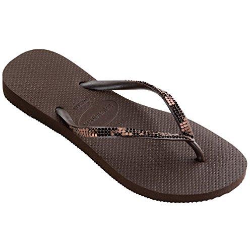 Dark Havaianas Sandal Slim Brown Metal brown Woman wBBIPqxHF