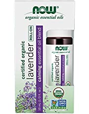 Now Foods Lavender Essential Oil Blend, Organic Roll-On, 10 milliliters