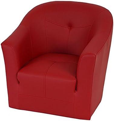 Poltrone Per Bambini Design.Poltrona Per Bambini Madison Design Lounge Moderno Ecopelle 52x58x57cm Rosso