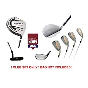 agxgolf-magnum-mens-xt-executive-edition-golf-club-set-graphite-460cc-dr-woods-4-6-8-irons-pitching-wedge-free-putter-right-hand-cadet-regular-or-tall-lengths-usa-built