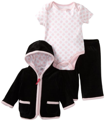 Offspring- Baby Girls  3 Piece Velour Jacket and Pant Set