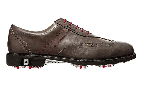 Calfskin Wingtip Shoes - FootJoy 2014 Icon Wing Tip Golf Shoes Closeout 52268 Grey 9 Medium