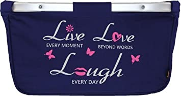 Mein Zwergenland faltbarer Einkaufskorb mit Alurahmen Live-Love-Laugh, 28 L, grau ZL1000664