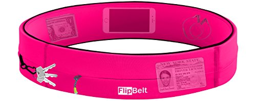 FlipBelt Running & Fitness Workout Belt, Hot Pink, Small by Level Terrain (Image #2)