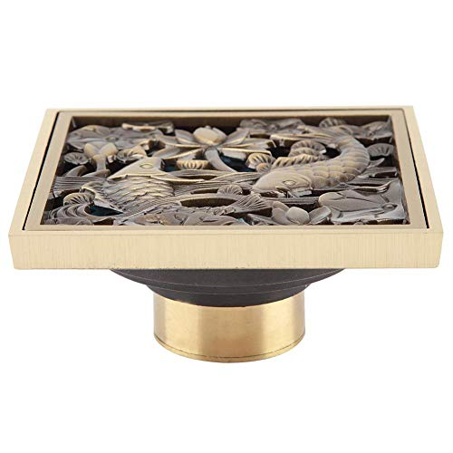 Grates Antique (Antique Brass 10cm Shower Floor Drain Bathroom Waste Drain Strainer Cover Grate)