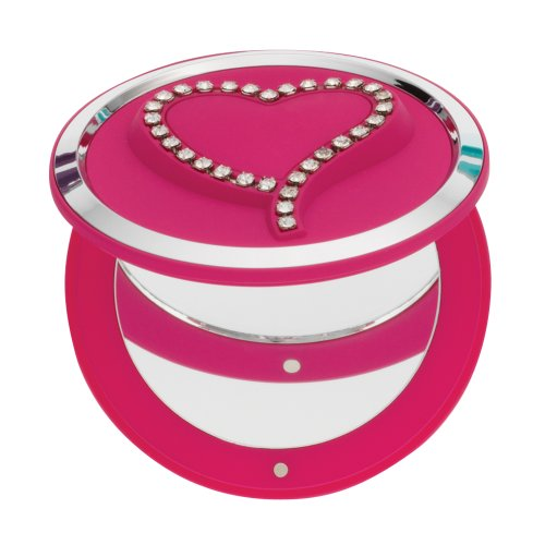 (Danielle Soft Touch Heart Compact/Pill Box with Swarovski Crystals,)