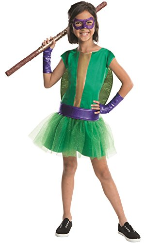 Rubie's Teenage Mutant Ninja Turtles Deluxe Donatello Tutu Dress Costume, Child Large