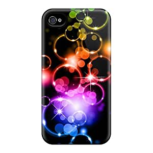 Tpu Fashionable Design Colored Bubble Rugged Case Cover For Iphone 4/4s New
