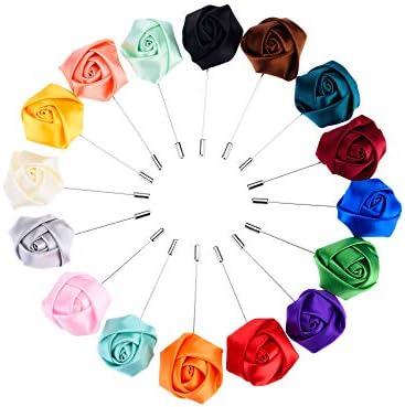 Prom Everyday Wedding Polka Dot Men/'s Boutonniere Flower Lapel Pin