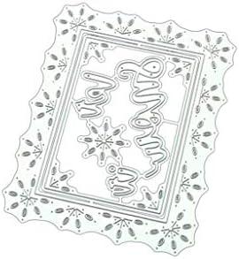 雪フレームDIY金属切削ダイステンシルスクラップブッキングアルバム紙カード装飾