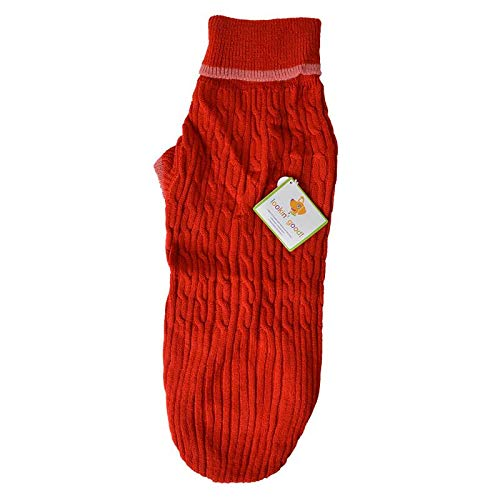 Fashion Pet Cable Knit Dog Sweater - Red (9 Pack)