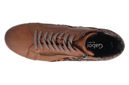 GABOR comfort-femme-marron-chaussures top high sneaker en matelas grande taille