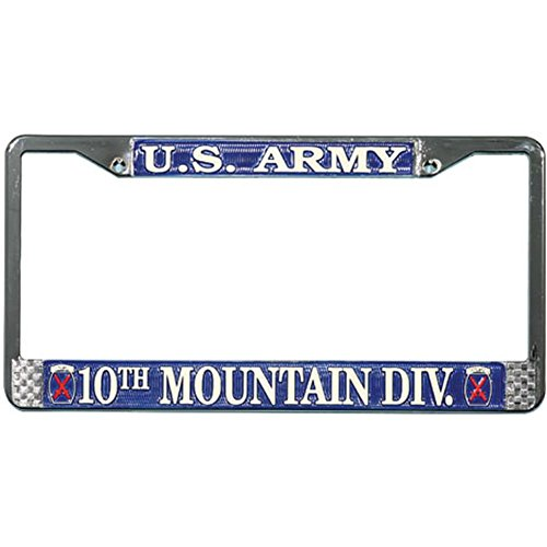 Honor Country 10th Mountain Division License Plate ()