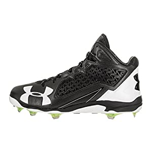 Under Armour Deception Low Baseball Cleat Black/White 1278705-011-12