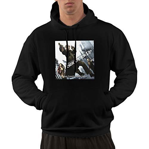 Shubin Mens Shoot 'Em Up Hooded Sweatshirt L Black