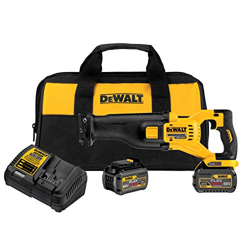 (DEWALT DCS388T2 FLEXVOLT 60V MAX Lithium-Ion Brushless Reciprocating Saw Kit (includes 2 Batteries))