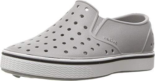 Native Kids Shoes unisex-baby Miles Water Shoe,pigeon grey/shell white,7 Medium US Toddler