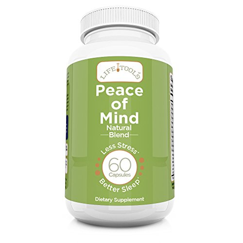 Life Tools Peace of Mind Natural Blend | Anxiety, Depression & Sleep Aid Supplement | Natural Calm Herbal Sleeping Pill | Antidepressant Vitamins for Stress & Insomnia Relief | Vegan | Gluten Free