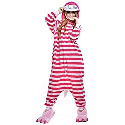 Adultos Unisex Anime Cosplay Outfit Costume Onesies Pijamas Romper ropa, Cheshire Cat