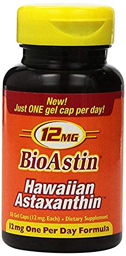 Nutrex Hawaii BioAstin 12 Milligrams Hawaiian Astaxanthin 50 Gel Caps in each Bottle (3 Pack)
