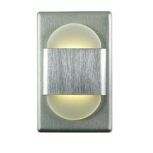Alico Industries WLE105DR32K-10-98 EZ LED Step Light, Brushed Aluminum Finished Trim with Opal Acrylic Lens