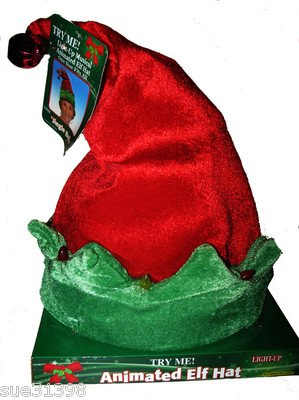 dan dee christmas musical lighted animated elf santa hat