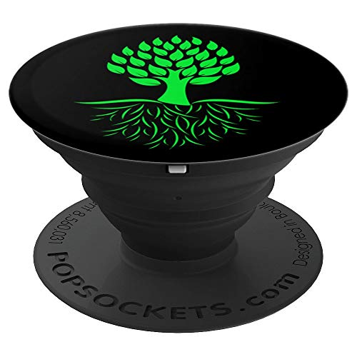 - Tree Roots Vegetarian Vegan Mother Earth Environmentalism - PopSockets Grip and Stand for Phones and Tablets