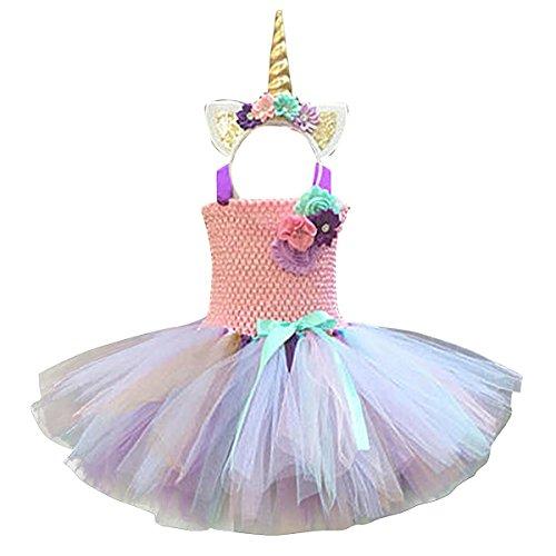 Freebily Girls Cartoon Skirt and Headband Cosplay Costume