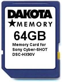 TALLA 64 gb. Tarjeta de Memoria de 64 GB para Sony Cyber-Shot DSC-HX90V