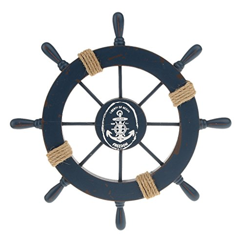 Mediterranean Nautical Wooden Wheel Decoration