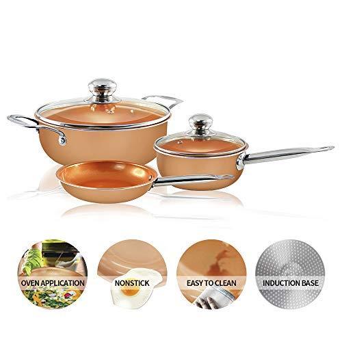 orange non stick pots and pans - 8