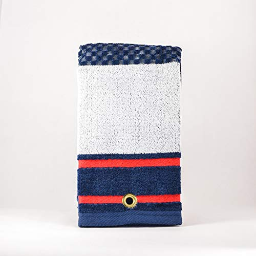 (Mobile Pro Shop Golf TRI-FOLD Woven Towels RED/White/Blue)