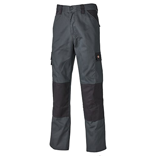 32t Thin - Dickies Mens Everyday Durable Cargo Pocket Work Pants (32T) (Gray/Black)