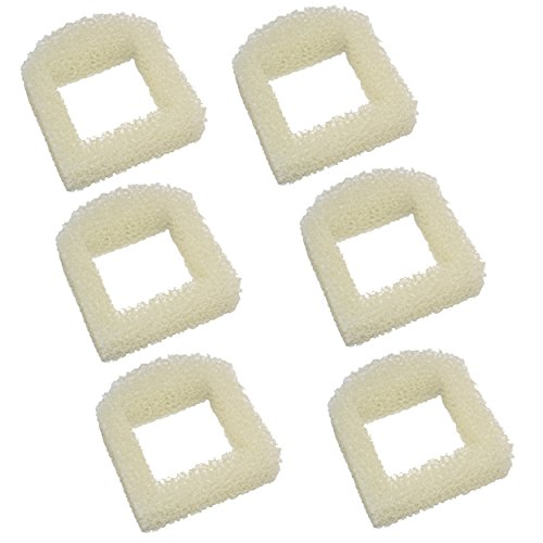 HQRP 6-Pack Foam Pre-Filter Drinkwell Ceramic Lotus PWW00-13709 / DMLT-CER, Sedona PWW00-15417, Pagoda PWW00-13907 / PWW00-14289 Pet Fountains; PAC00-13711 / PAC00-13194 Repl Coaster
