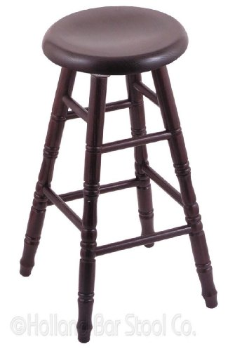 - XL Oak Extra Tall Bar Stool in Dark Cherry Finish