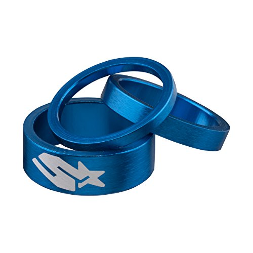 Spank Spacer Kit 3/6/12mm Bike Headsets & Accessories, Blue
