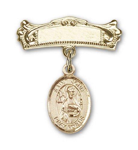 Icecarats Or Bijoux De Créateurs Rempli R. John La Broche Badge Voûtée De Charme Apôtre 7/8 X 3/4