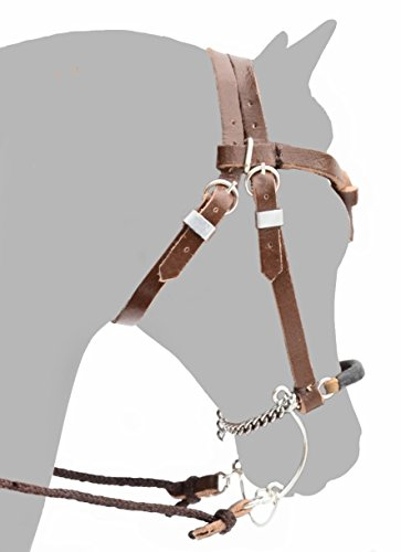 MO Handmade Leather Headstall with Hackamore for Traditional 1:9 Sized Breyer Model Horse Toy Accessory