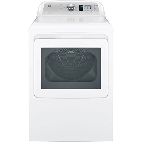 GE GTD65GBSJWS 27″ Energy Star Rated Front Load Gas Dryer with 7.4 cu. ft. Capacity in White