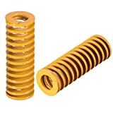 uxcell® 14mm OD 40mm Long Spiral Stamping Light Load Compression Mould Die Spring Yellow 5Pcs