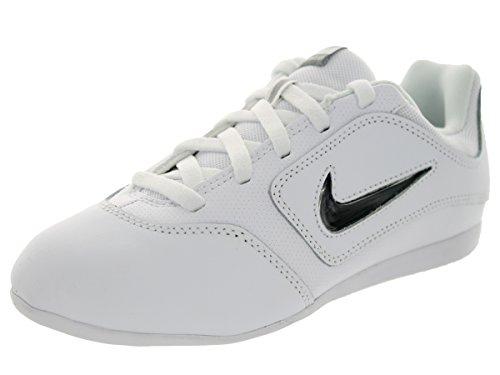 Nike Kids Ya Sideline II Insert White/White/Matte Silver Casual Shoe 2 Kids US - Cheerleading Shoes Nike